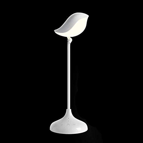 LJ Mode Kreative Einfache Dimmbare Faltbare Vogel-förmige LED-Tischlampe Mit Bluetooth-HiFi-Sprecher-Noten-Schalter-dekorativem Geschenk-weißem Licht Originalität