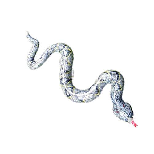 YeahiBaby Aufblasbare Schlange Blow up Schwimmen Wasser Spielzeug Aufblasbare Tiere Spielzeug Photo Booth Props (Große Wasser-schlange)