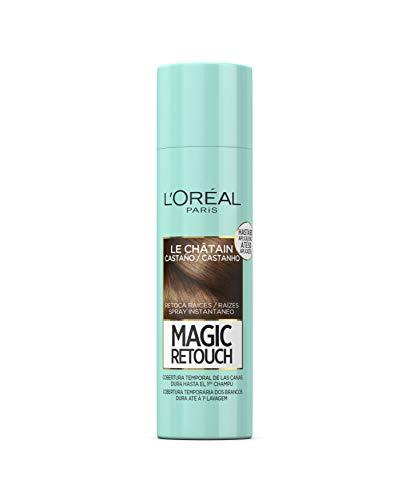 L'Oréal Paris Magic Retouch Spray Retoca Raíces y Canas, Castaño,  150 ml