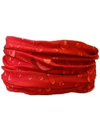 Multifunction Neckwarmer, Snood, Hat, Scarf and Hood in Red drop print by Monogram