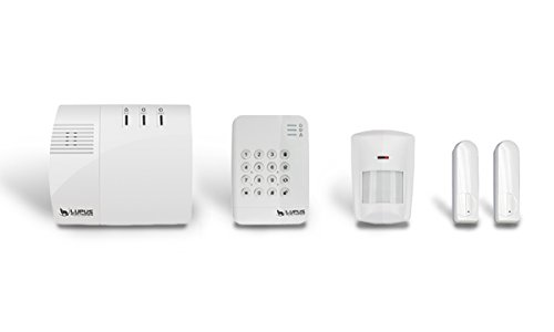 LUPUSEC XT1 Smarthome Funk-Alarmanlage, Starter Pack mit Funk Bewegungsmelder, 2 Türkontakten und Keypad, Einbruchmeldeanlage, fernsteuerbar via Browser, Tablet oder Smartphone, IP-Kameras integrierbar, Wachschutz aufschaltbar
