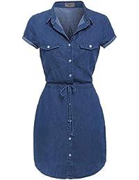de2c11e6d13 SS7 New Denim Blue Shirt Dress Sizes 8-14 (UK - 16