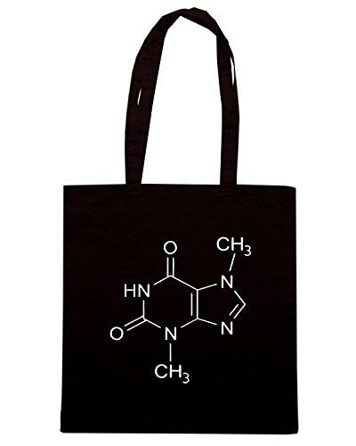 T-Shirtshock - Borsa Shopping OLDENG00693 theobromine molecule Nero