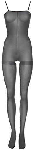 Orion Catsuit - Reizwäsche Bodysuit mit ouvert-Öffnung, verführerisches Catsuit-Dessous für Frauen, sexy Einteiler für sie, unten offen (Schwarz)