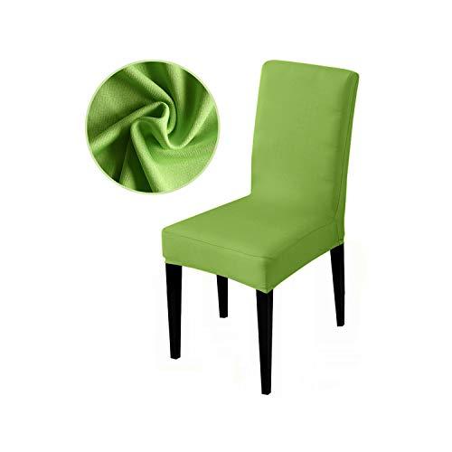 HGblossom Reine Farbe Stretch Stuhlbezug Sitzbezüge Schonbezüge Hotel Bankett Sessel Elastische Weihnachten Bürostuhl Obstgrün Universalgröße