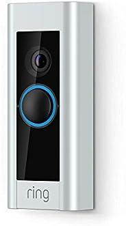 Ring Video Doorbell Pro trådbunden | Inkluderar Chime (första generationen), 1080p HD, tvåvägssamtal, Wi-Fi, r