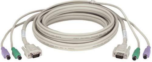 BLACK BOX KVM Cable, VGA+PS/2, 1,5m CPU KVM Cable, VGA & PS/2, EHN408-0005 (CPU KVM Cable, VGA & PS/2 KVM Cables with (1) VGA (2) PS/2 connectors, CPU Connection 1,5m) - Ps/2-kvm-cpu