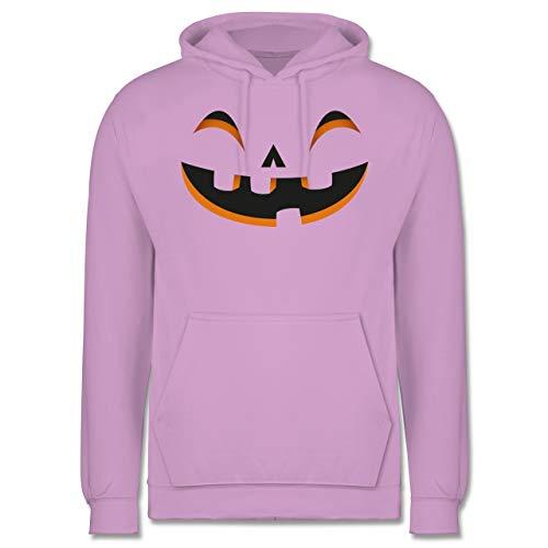Shirtracer Halloween - Kürbisgesicht Kostüm - XXL - Lavendel - JH001 - Herren Hoodie