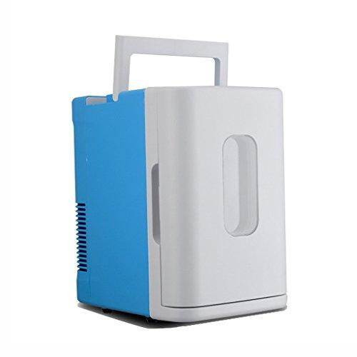 LT&NT Portable Auto Kühlschrank 10L Elektrischer Kühlschrank Car Home Dual-Zweck Mini Warm und Cold Box 12V / 230V Weiß + Blau