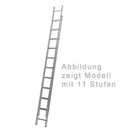 Aluminium Schiebeleiter 2-teilig 2 x 14 Stufen
