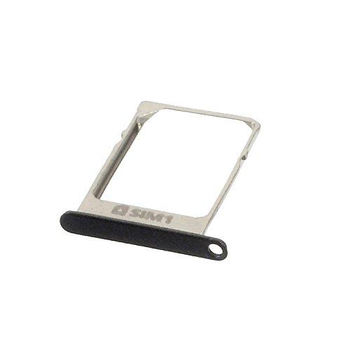 JBTec® SIM-Tray zu Samsung Galaxy A3 / SM-A300F - GSM-Karten-Schlitten/Halter , Farbe:Schwarz