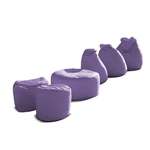 Pouf-poltrona-sacco-grande-BAG-XXL-Jive-tessuto-tecnico-antistrappo-lilla-imbottito-Avalon