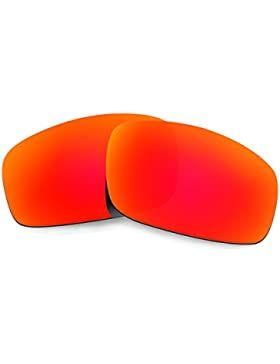 Hkuco Plus Mens Replacement Lenses For Oakley Monster Pup Sunglasses Red Polarized