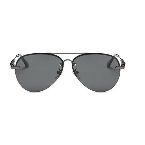 RYRYBH Sonnenbrille Flieger Sonnenbrille Mode 80er Jahre Retro-Stil Designer Farbton UV400 Linse Neutrale Linse Breite 61 mm Sonnenbrille Sonnenbrille (Farbe : Schwarz, größe : One Size)