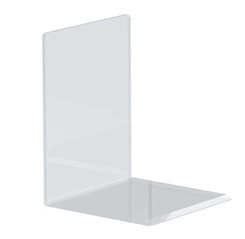 Maul Buchstützen aus hochwertigem Acryl, glasklar, 10 x 10 x 13 cm (20 Stück)