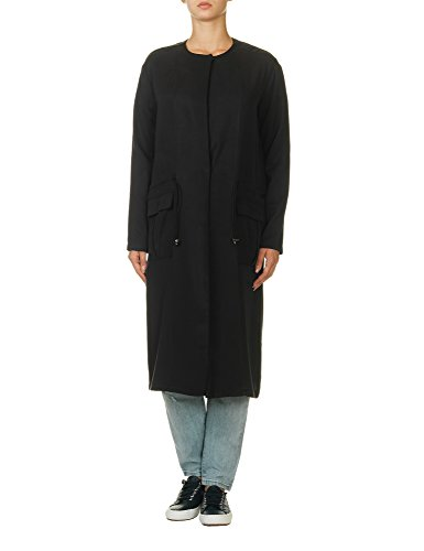dr-denim-jeansmakers-womens-jill-coat-womens-black-loose-coat-in-size-l-black