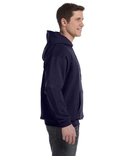 Hanes Men's Pullover EcoSmart Fleece Hooded Sweatshirt, Navy, Large Navy Hooded Fleece-sweatshirt