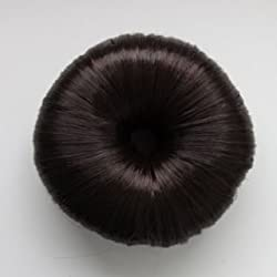 Imported Fashion Hair Doughnut Bun Ring Shaper Hair Donut Style Updo Black(set of 2)