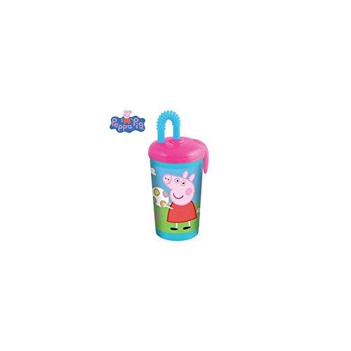 Peppa Pig pour enfant Eau Boisson Jus enfants Bouteille avec paille