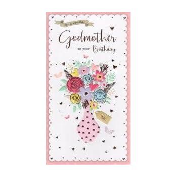 Godmother Birthday Card Amazon Kitchen Home