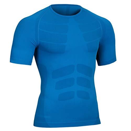 Macht Einen Suit Fat Kostüm - Mens Seamless Compression T-Shirt Abnehmen Body Shaper Weste Shirt Bauch Bauch Körperhaltung Korrektor