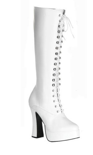 Pleaser Electra-2020 - Sexy Komfort Plateau-Stiefel High Heels 36-48, Größe:EU-48 / US-16 / UK-13