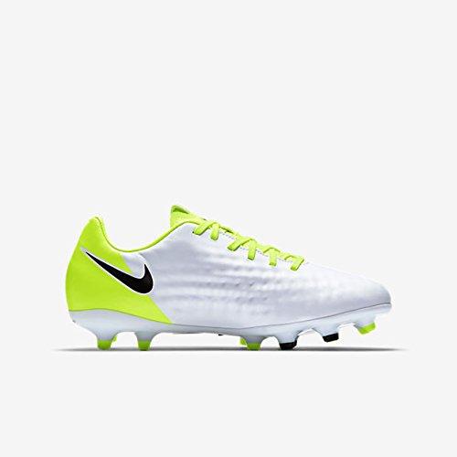 Nike Jungen Jr Magista Opus Ii Fg Fußballschuhe Weiß (White/black-vert Volt-pure Gris Platinum)