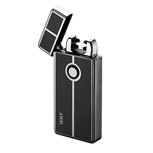 VVAY Encendedor Mechero Eléctrico Plasma Doble Arco USB Recargables sin Llams Resistente al Viento