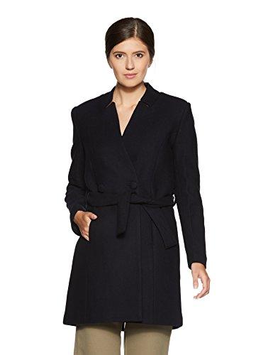 Van Heusen Women's Cotton Trench Coat (VWJK515D01400Long Sleeve_Blue_XL)
