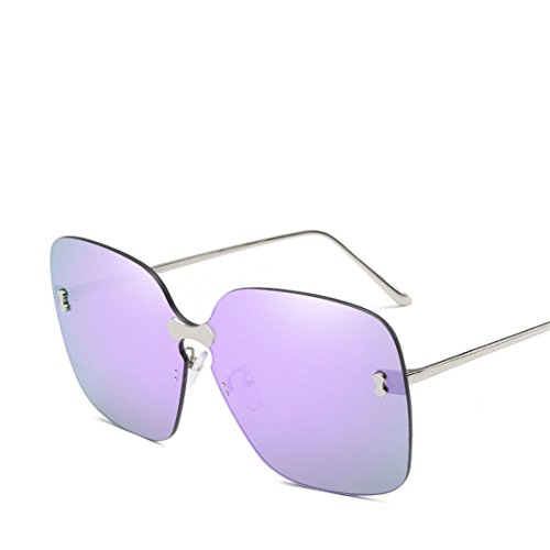 GUO Sonnenbrillen Mode kein Frame Square Cooler Farbige Sonnenbrille, D.