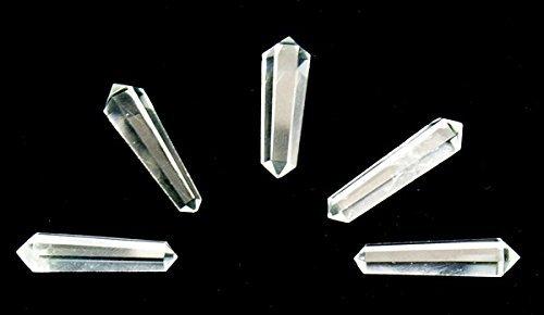 Quarz Kristall Vogel-Stil doppelte beendet Punkte Zauberstab, 35-40mm (Kristall Quarz Vogel)