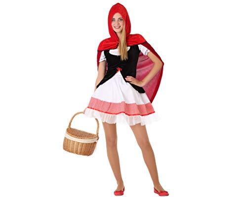 Atosa-61617 Atosa-61617 Kostüm Mädchen Märchenfiguren Damen, Rot, Jugendliche (Märchenfiguren Kostüm Für Jungen)