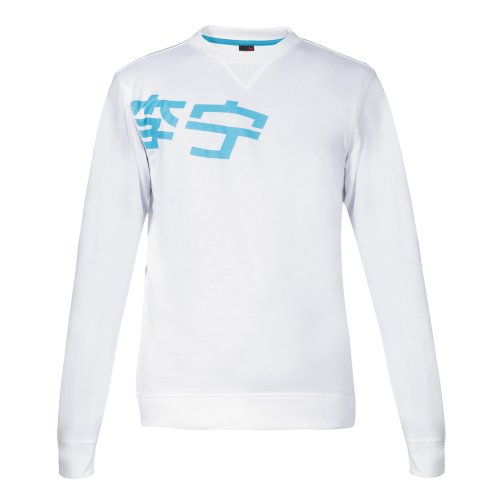Li Ning Herren Sweatshirt, 85417 Weiß