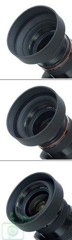 pare-soleil-souple-43mm-a-3-positions-grand-angle-standard-tele-objectif