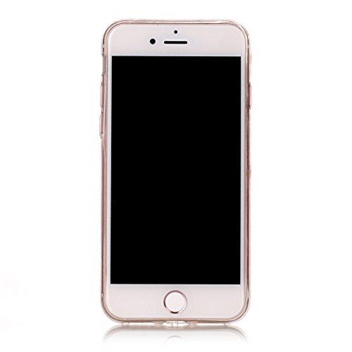 Vandot 1X 0.5MM 3D HD Exklusive Ultra Thin Leicht TPU Silikon Hülle Matt Für iPhone 7 4.7 inch Muster Pattern Protektiv Case Skin Transparent Klar Back Cover Tasche Anti Finger Kratzer Premium Shell S C-Big Ananas