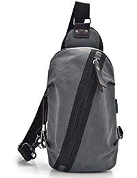 Fonxoy-Backpack Bolsos Cruzados Bolso De Bandolera Para Hombres Lona Deportiva Casual Para Hombres Bolso