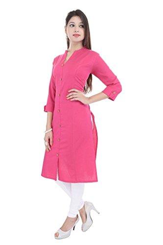 Muta Fashions Pink Kurti For Women\'s Kurtas for Girls Fabric (Fabric Of 2 mtrs)(Pink)(FABRIC02_01)