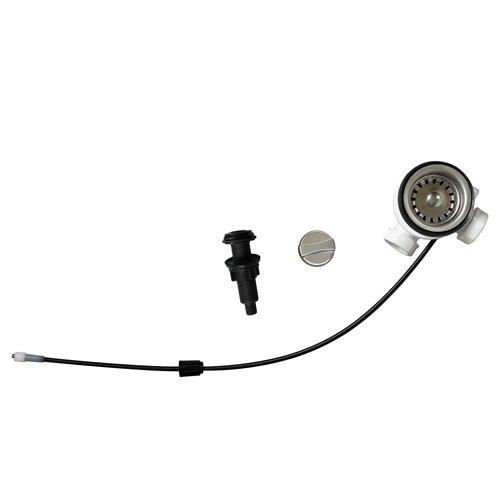 Universal Siebkorb-Excenterventil 70 mm mit Drehexcenter und zwei 1 Zoll Anschlüssen / Ablaufgarnitur / Abfluss / Ersatzteil Spüle