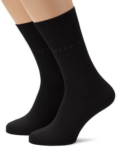 ESPRIT Herren Socken Basic Easy Doppelpack SO, Gr. 43/46, Schwarz (black 3000)