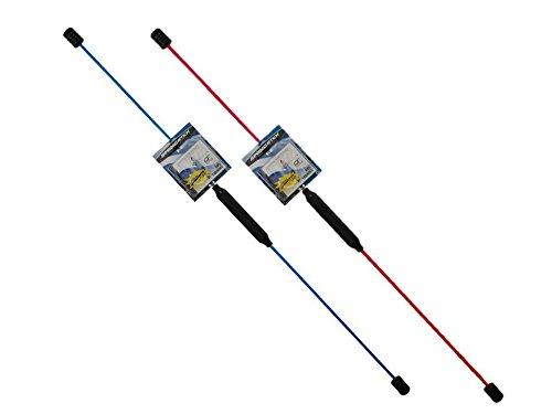 Talk-Point TP Swingstick - Schwungstab - Flexistab inkl. Übungs-DVD (Blau)