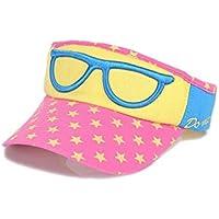 FOUGNOGKISSS Gorra de béisbol del Estilo de los vidrios de los niños Gorra de béisbol del vacío del Sombrero de los niños al Aire Libre Superior para 2-8 años (Color : Rosy Red, tamaño : 48-53cm)