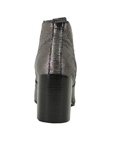 Bruno Premi stivaletti donna tacco comodo argento beatles made in Italy I3202X Grigio