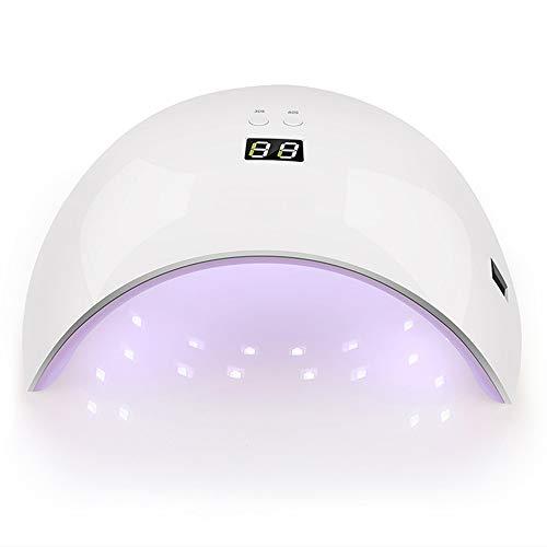 DNNAL Nageltrockner Professionelle LED-Nageltrockner-Nagellampe für Gelpoliermittel mit 30S, 60S-Timern, professionelles Starter-Kit für den Salon und zu Hause