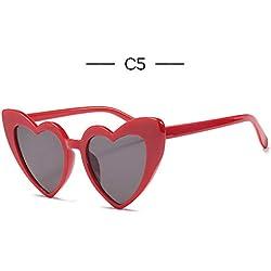 LLLM Gafas de sol Mujeres Corazón Ojo de Gato Gafas de Sol Diseñador de la Marca Lolita Gafas de Sol Damas Elegantes Gafas Mujer Compras UV400