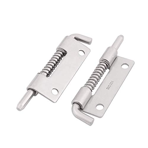 ZCHXD Home 304 Stainless Steel Door Gate Spring Latch Box Bolt 3.3 Inch Length 2pcs -