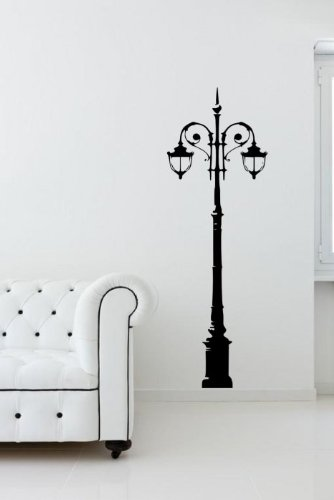 Broomsticker Laterne Wunderschöne Große Wand-Aufkleber, schwarz, Large: 60cm x 180cm / 24