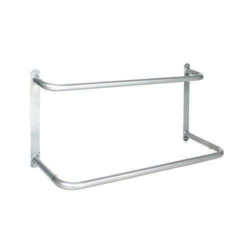 netproshop Stabiler Deckenhalter 2 Etagen für Stalltür Farbe wählen, Auswahl:Silber
