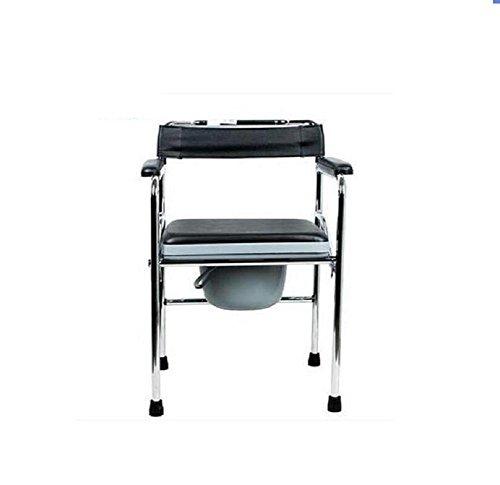 GAOFG Donne anziane wc sedile pieghevole imbottita toilette mobile leggera