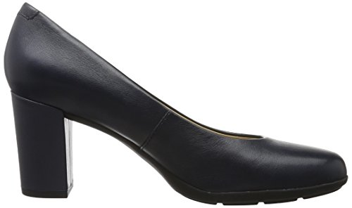Geox D Annya A, Scarpe con Tacco Donna Blu (NAVYC4002)