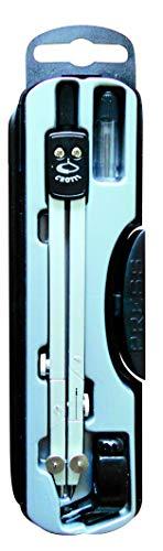 Teleskopstangen mit Adapter für Bleistifte - Silber mit schwarzem Kopf